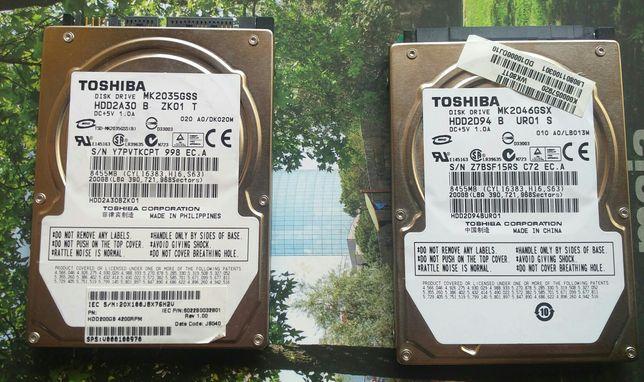 Discos Toshiba 200GB 2,5 SATA
