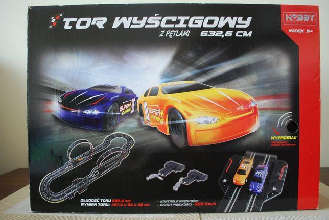 Tor samochodowy - elektryczny - 2 pętle, 2 auta - NOWY - nie używany