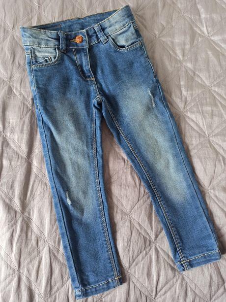 Cool Club Smyk r. 98 cm jeansy rurki z efektem sprania
