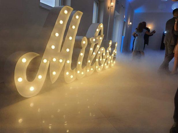 Napis Miłość pisane LED! Love, Wesele, Duży, Mega, Nowość