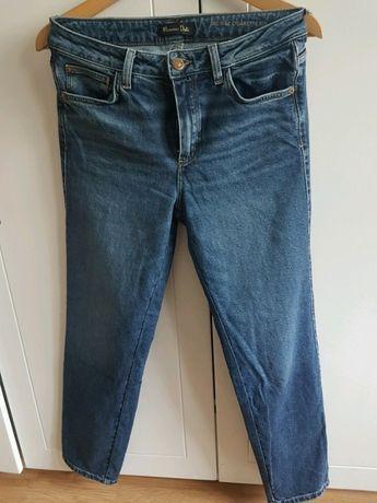 MASSIMO DUTTI spodnie jeansy cygaretki proste jeansowe jeans granatowe