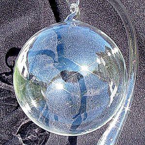 Bombka czyste szkło bezbarwna przezroczysta bombki BARDZO GRUBA 8cm