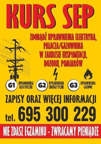 KURS SEP Pajęczno i okolice - zdobądź uprawnienia G1/G2/G3 - ZAPISY