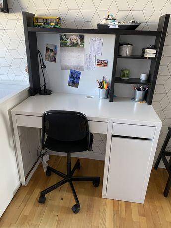 MICKE Biurko, biały105x50 cm + krzesło