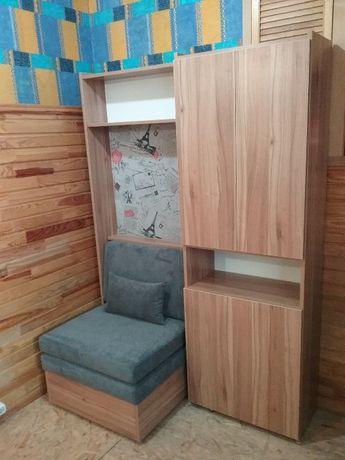 Кресло-кровать+шкаф+стол+книжна поличка