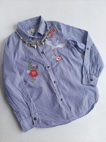 Стильная вышитая рубашка на девочку 7-9лет  вышиванка на школьницу