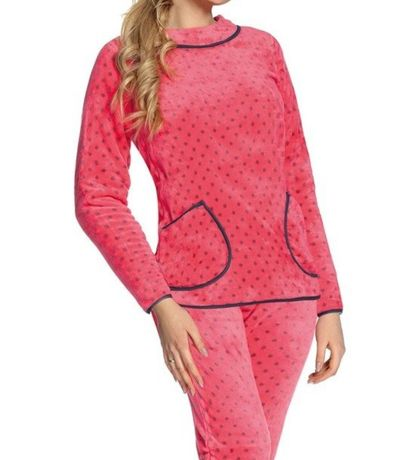 Damska piżama różowa XL ciepla