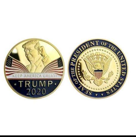 сувенирная колекционная монета-президент трамп