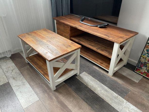 Komplet mebli stolik RTV stolik kawowy salon
