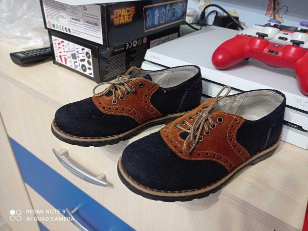 Кожанные туфли оксфорды 31 размер с супинатором анатомическая стелька