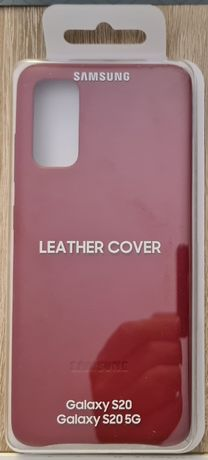 Oryginalne Skórzane Etui Samsung Galaxy S20 - Leather Cover - Red
