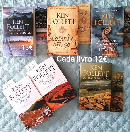 Ken Follett, A ESTREAR-Kingsbridge,Pilares,mundo s/fim,Inverno d mundo