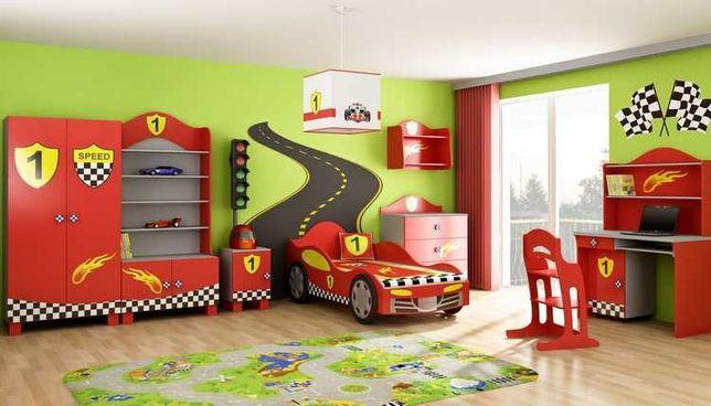Nowy zestaw mebli dla chłopca- samochód