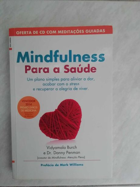 Livro Mindfulness Para a Saúde-Vidyamala Burch, Dan Penman