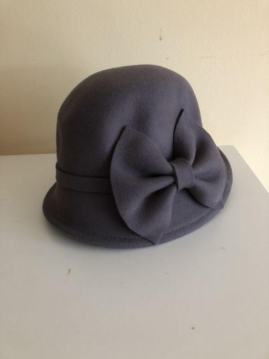 Wełniany kapelusz z kokardą marki Marie Lund Poznań - image 1