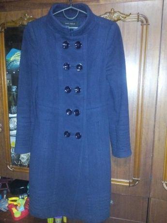 Синее пальто весна/осень Zara, XS-S, на рост до 165 см