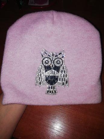Тепла шапочка з совушкою