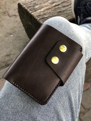 РУЧНА РОБОТА Портмоне мужской кошелек кожаный гаманець шкіряний
