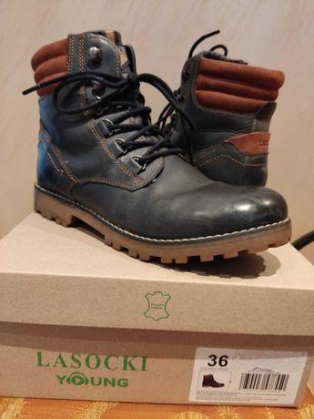 Buty chłopięce zimowe używane Lasocki rozmiar 36