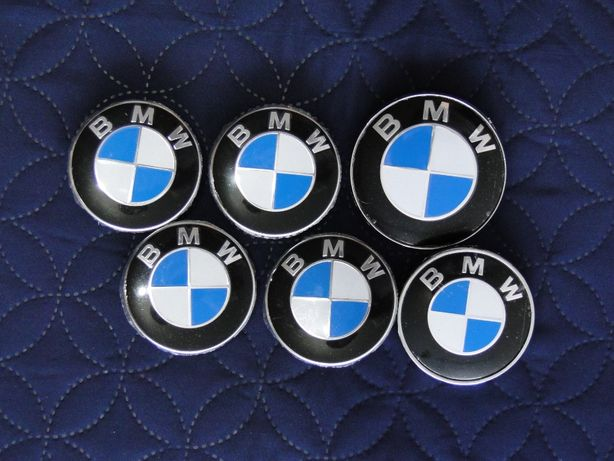 2x logo 4x Dekielek Dekielki kapsle BMW 68mm E46 E90 F30 E39 E60 F10