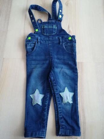 Spodnie ogrodniczki bluzka zestaw