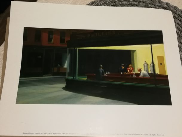 "Reprodukcja obrazek Edward Hopper ""Nighthawks"""