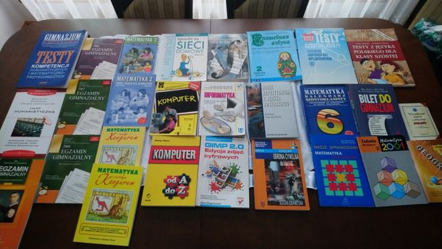 Książki, ćwiczenia i pomoce naukowe
