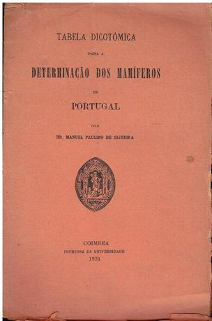 10955 Tabela dicotómica para a determinação dos mamíferos de Portugal