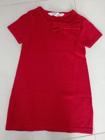 Sykienka czerwona H&M 98 / 104 sesja święta