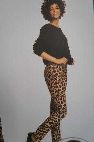 Spodnie ESMARA panterka rozm M