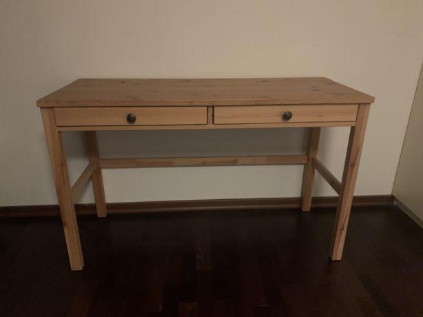 Biurko Hemnes Ikea z 2 szufladami, jasnobrązowe