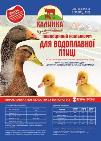 Комбикорм для водоплавающей птицы Калинка