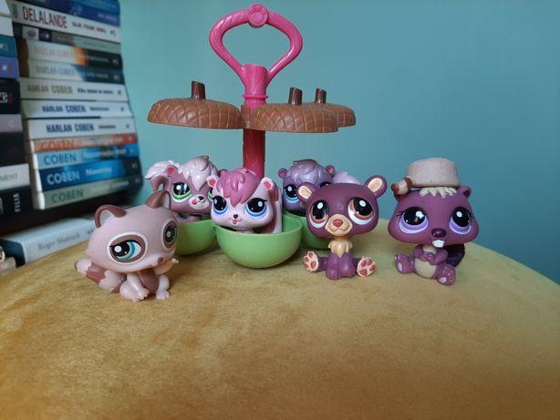 littlest pet shop - zestaw 6 figurek + domek gratis