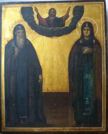 Икона св. Таисия и Евфимий 19 век