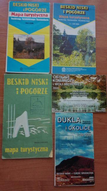 Mapy turystyczne - Tatry, Bieszczady, Beskidy, Pieniny i inne