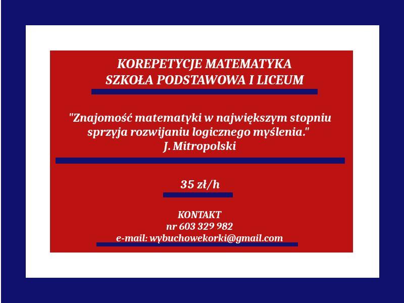 Korepetycje matematyka Inowrocław - image 1
