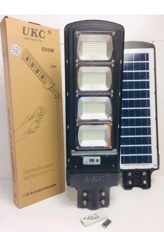 Фонарь с солнечной панелью и пультом Cobra solar street light R4 500W