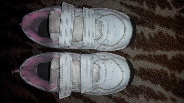 Кроссовки кеды белые для девочки 32 р-р 19.5см