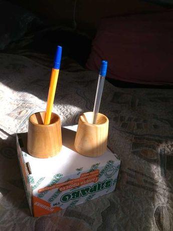Деревянные чернильницы