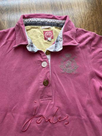 Różowa koszulka polo, rozmiar S