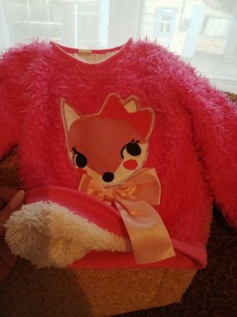 Очень тёплый свитерок травка для девочки!