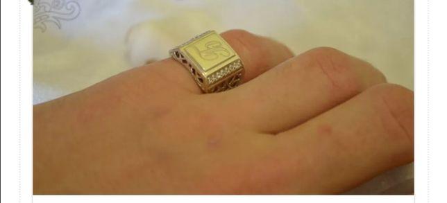 Кольцо с буквой на выбор серебро/золото все размеры