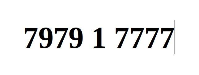 Ładny Numer Starter Orange 7979. 1. 7777