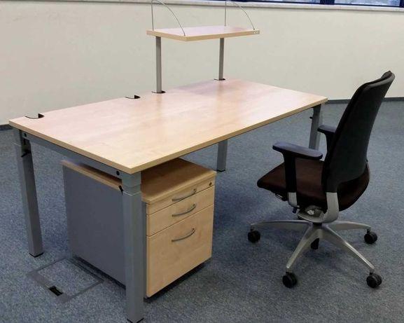 biurko kontenerek fotel - zestaw niemieckich mebli samas + drabert
