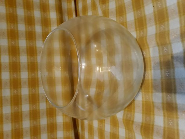 Aquário redondo de vidro