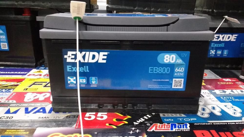 Akumulator Exide Excell EB800 12V 80Ah 640A P+ Kraków CB800