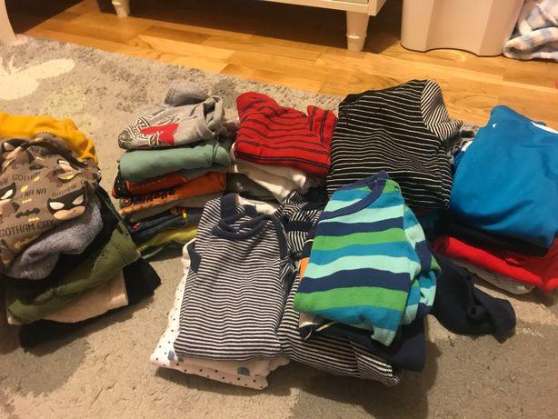 Paka zestaw ubranka chłopiec 74/80 jesień