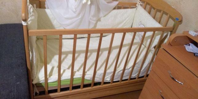 Детская кроватка Наталка с ящиком Полный комплект!