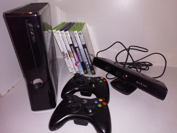 Xbox 360 250gb plus kinect +gry