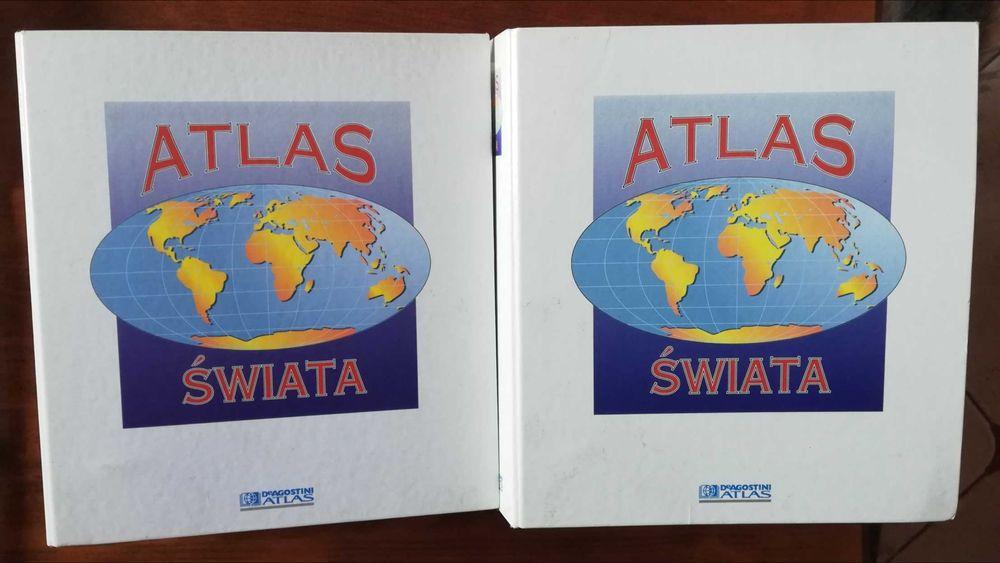 ATLAS ŚWIATA, DeAgostini, 2 segregatory, cały świat Maków Podhalański - image 1
